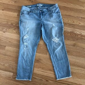 Torrid Raw Hem Distressed Boyfriend Jeans
